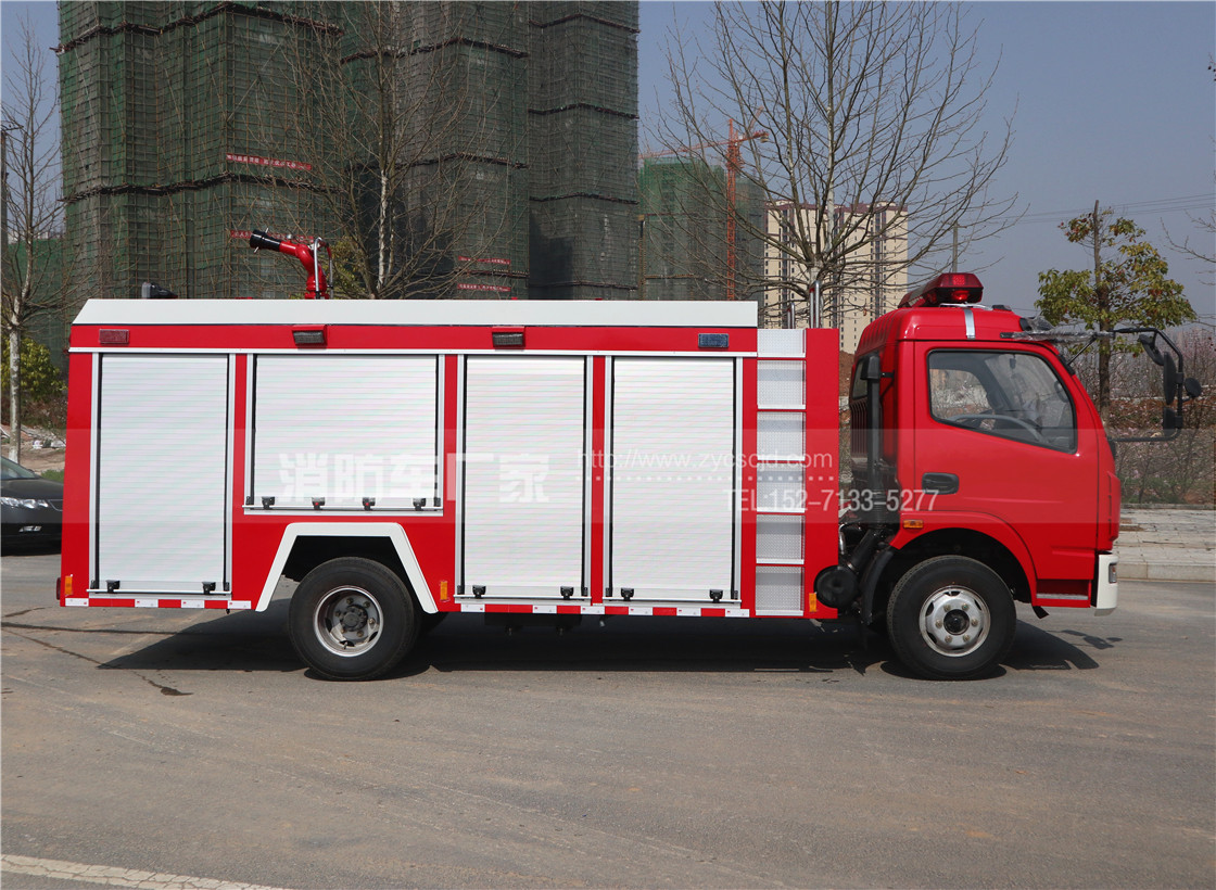 4吨东风多利卡单排座水罐消防车