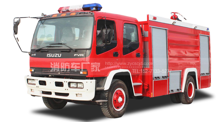 8吨五十铃FTR水罐消防车