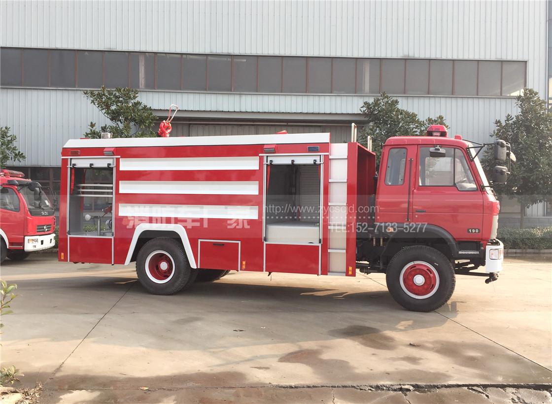 东风153单排座8吨水罐消防车
