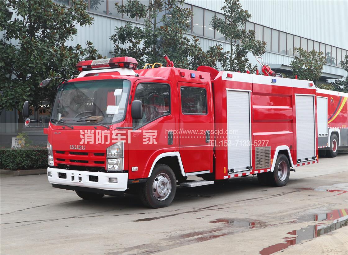 消防队专用五十铃3吨水罐消防车