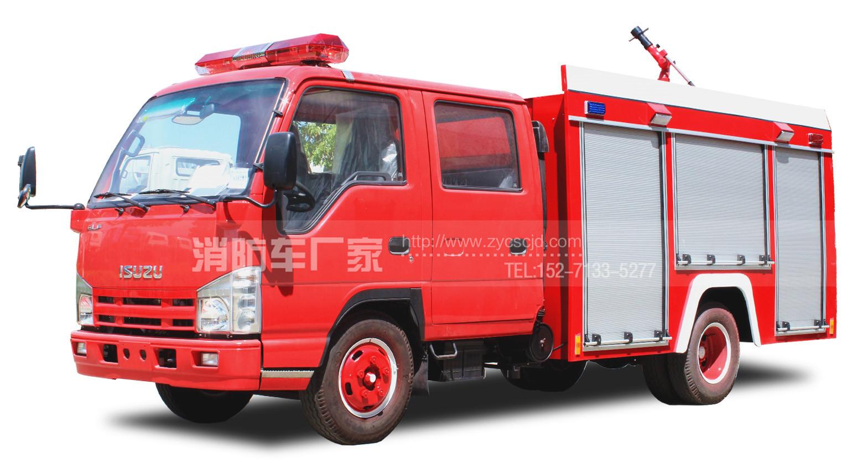 专职队专用五十铃100P 2吨水罐消防车