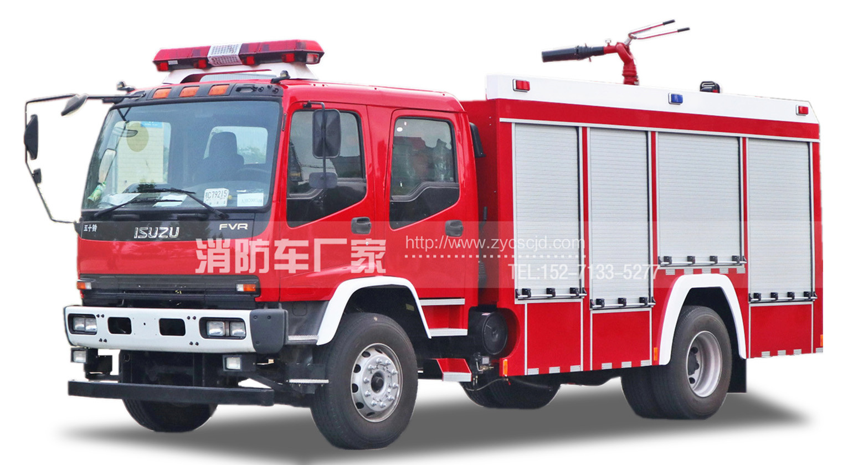 专职队专用五十铃6吨水罐消防车