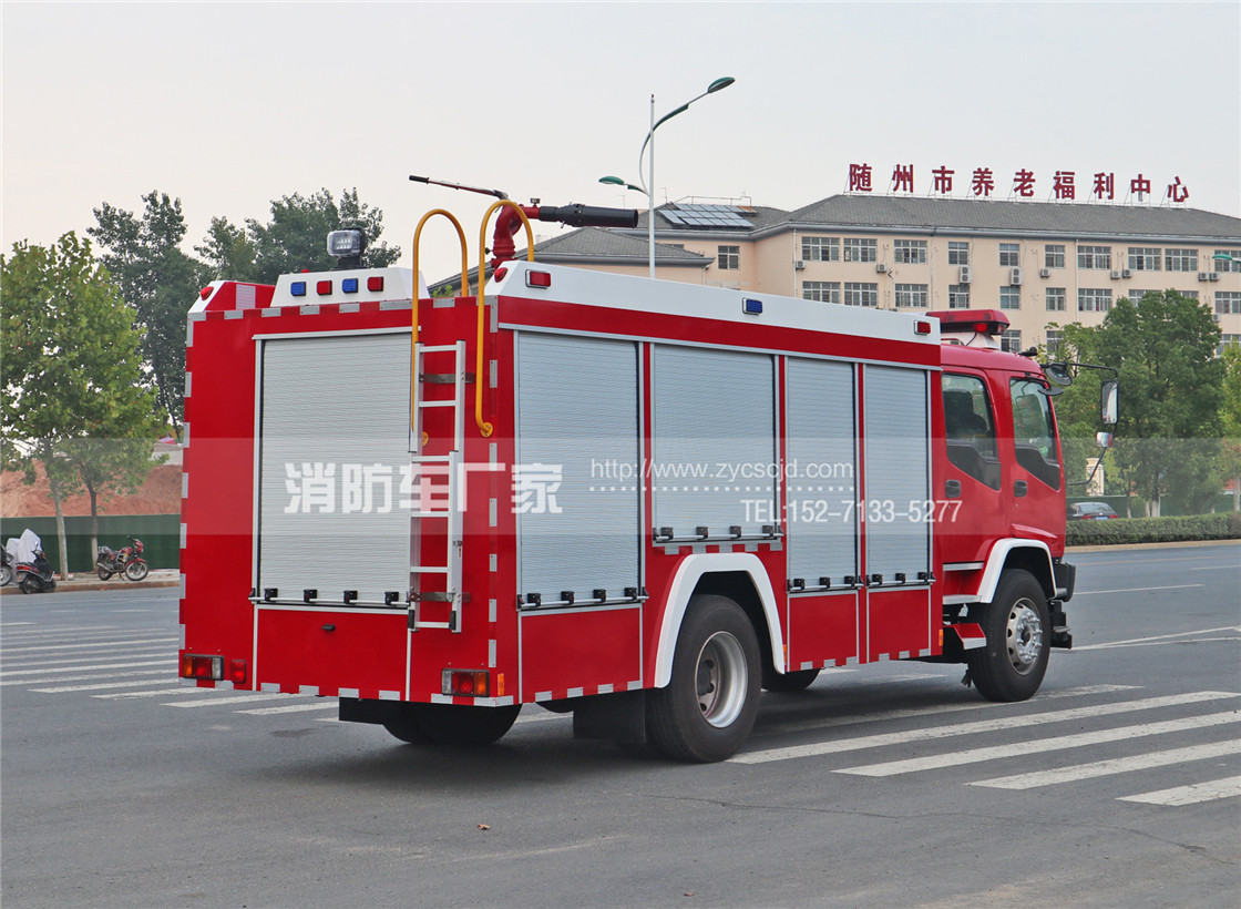 6吨中型水罐消防车【五十铃国五】