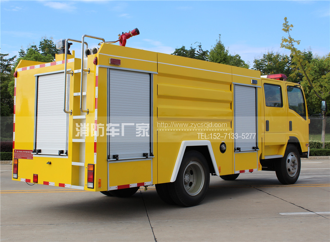 【五十铃】700P 5吨水罐消防车
