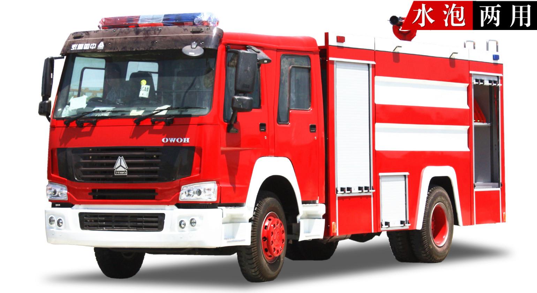 重汽10吨水罐消防车