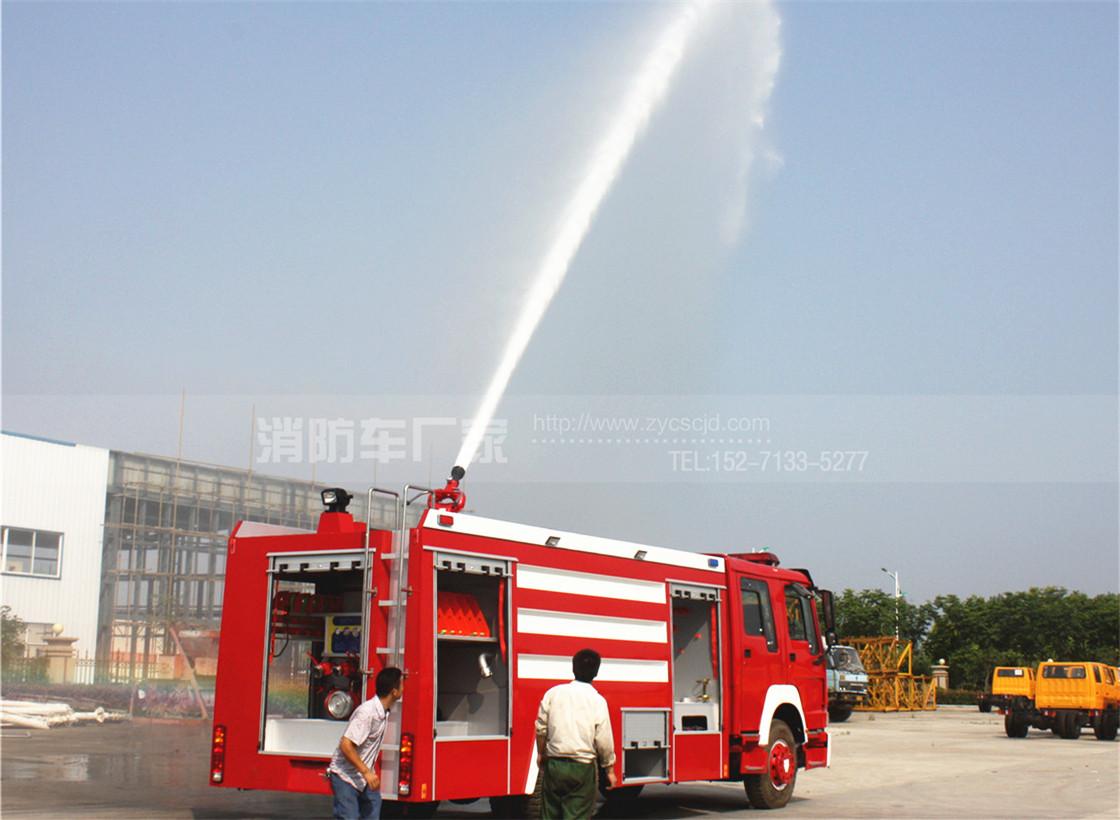 重汽10吨泡沫消防车