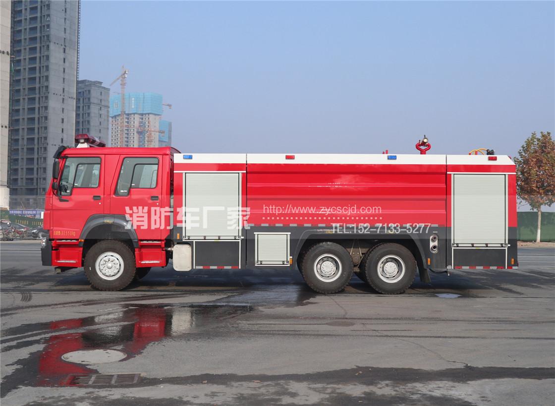 消防队专用重汽16吨水罐消防车