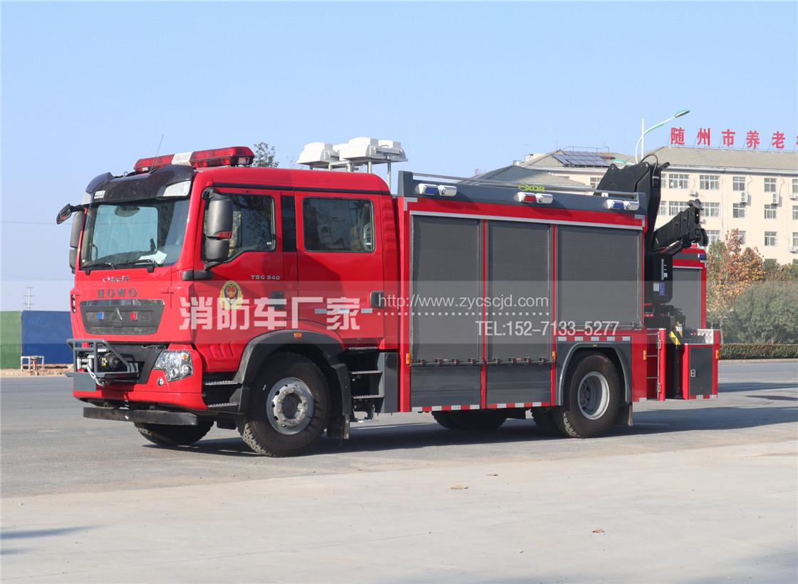 重汽豪沃T5G抢险救援消防车