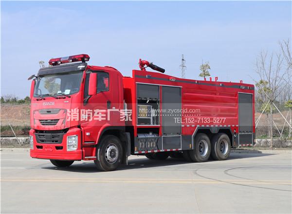 【五十铃】后双桥16吨水罐消防车