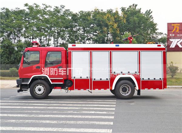 国五五十铃6吨水罐消防车