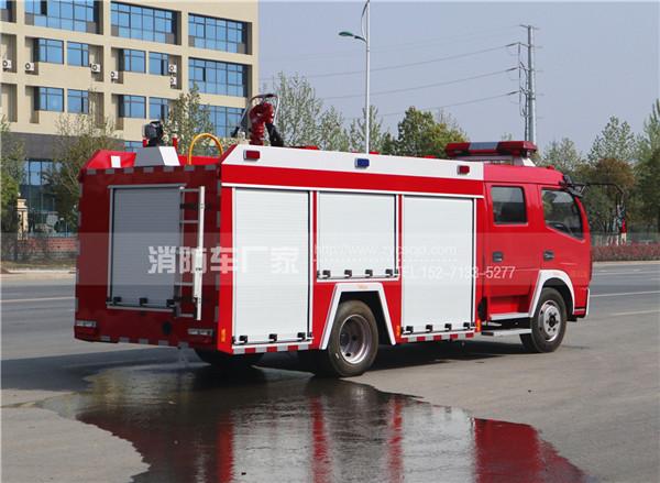 国五东风多利卡4吨水罐消防车
