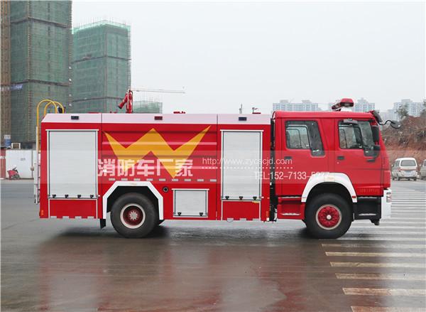 国五重汽豪沃8吨水罐消防车