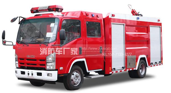 国五五十铃3.5吨水罐消防车