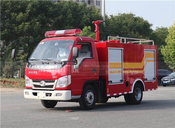新款福田2吨水罐消防车