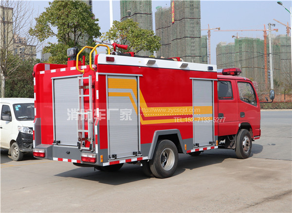 3吨东风福瑞卡水罐消防车