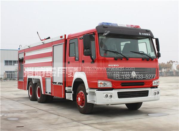 12吨重汽豪沃双桥水罐消防车