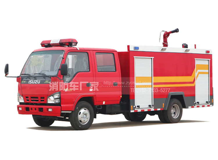 五十铃600P 4吨水罐消防车
