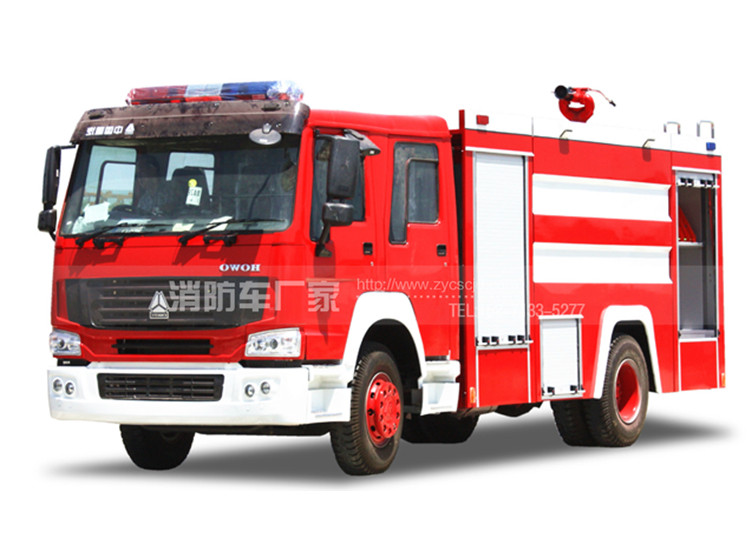 10吨重汽豪沃水罐消防车