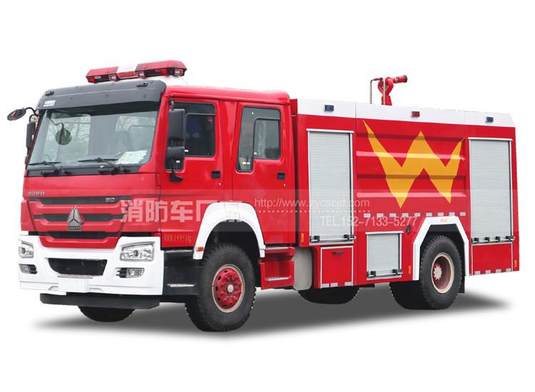8吨豪沃单桥水罐消防车