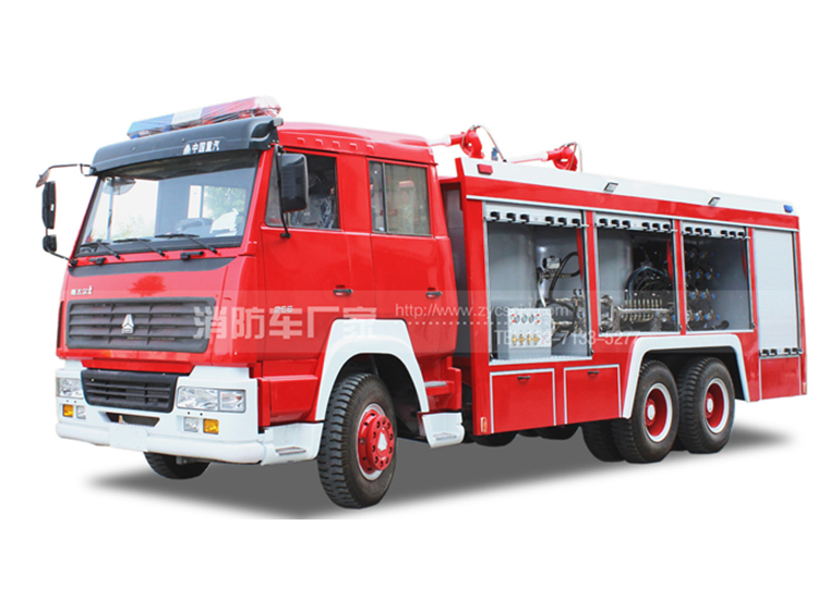 重汽6吨干粉消防车