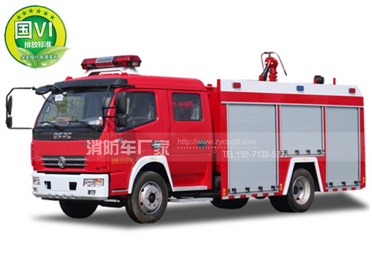 国六东风多利卡4吨水罐消防车