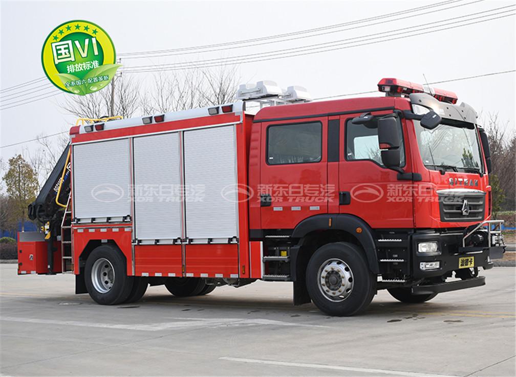 国六重汽汕德卡抢险救援消防车
