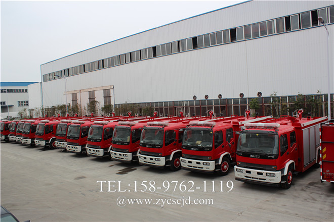 五十铃FTR泡沫消防车300台订单落户随州
