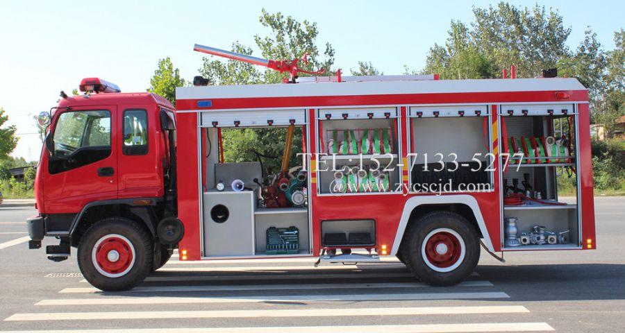 消防车消防泵中置和后置的好处