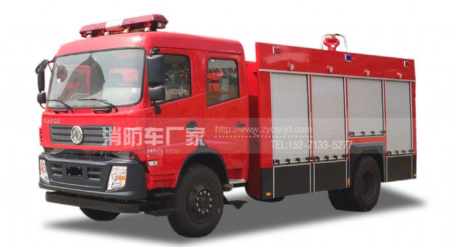 国五东风153 6吨水罐消防车