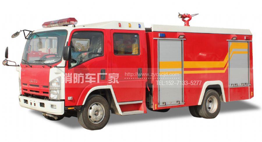 国五五十铃3吨水罐消防车