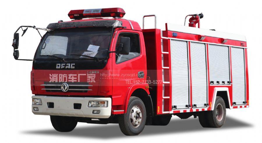 东风多利卡单排座4吨水罐消防车