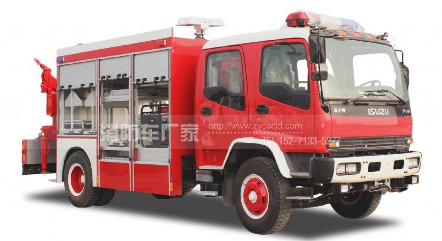 消防队专用五十铃抢险救援消防车