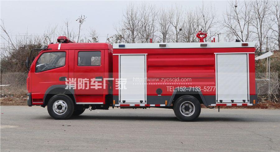 东风多利卡双排座4吨消防车
