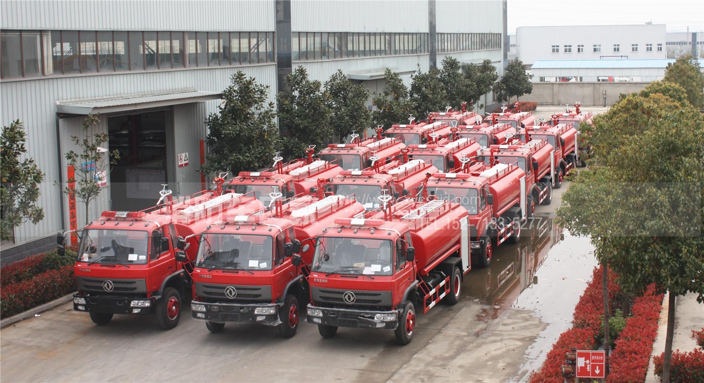 16台消防洒水车出口缅甸
