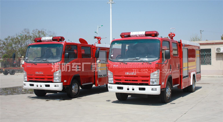 湖南某林业局采购2台五十铃700P水罐消防车