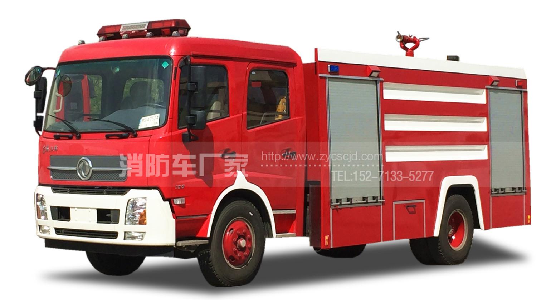 东风天锦8吨水罐消防车