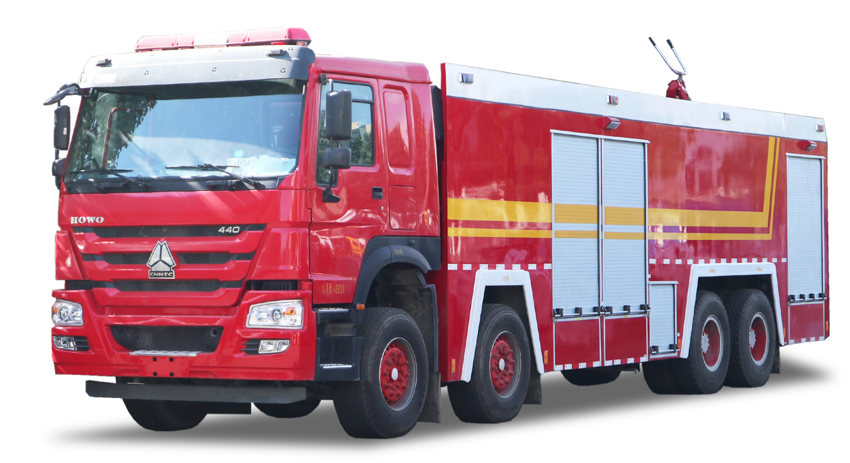 22吨豪沃前四后八泡沫消防车