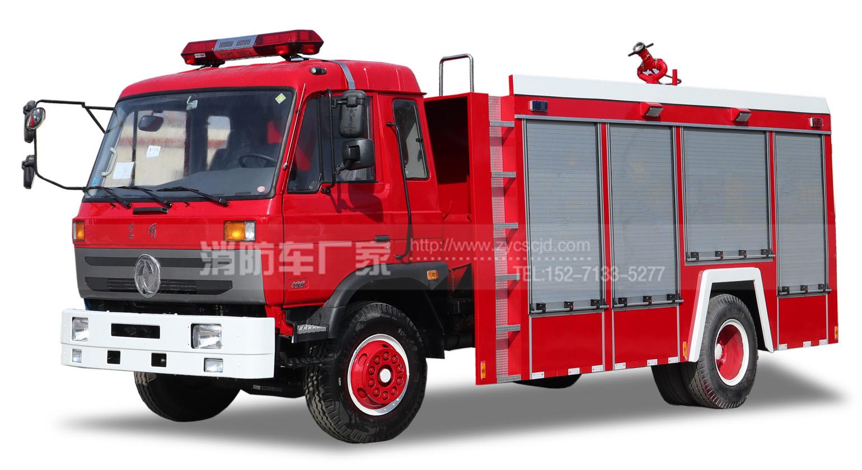 东风153单排座6吨水罐消防车