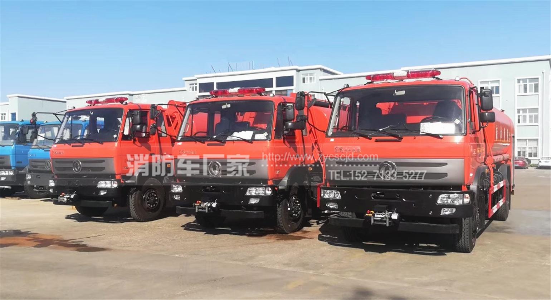 发往吉林3台东风10吨四驱森林消防车参数、图片