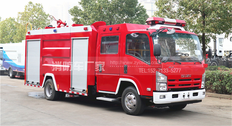 新款五十铃700P 3.5吨消防车参数、图片
