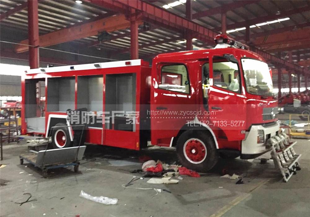 东风天锦6吨泡沫消防车年前即将完工年后发车