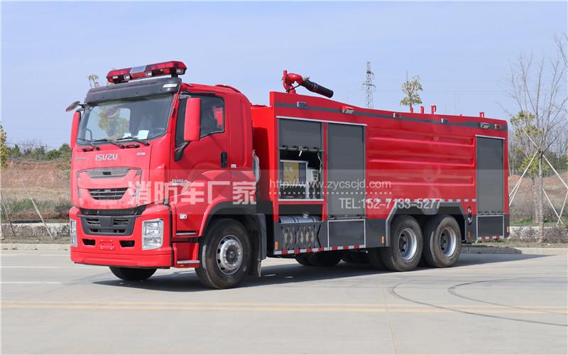 五十铃泡沫干粉联用消防车配置、生产现场高清图片及价格