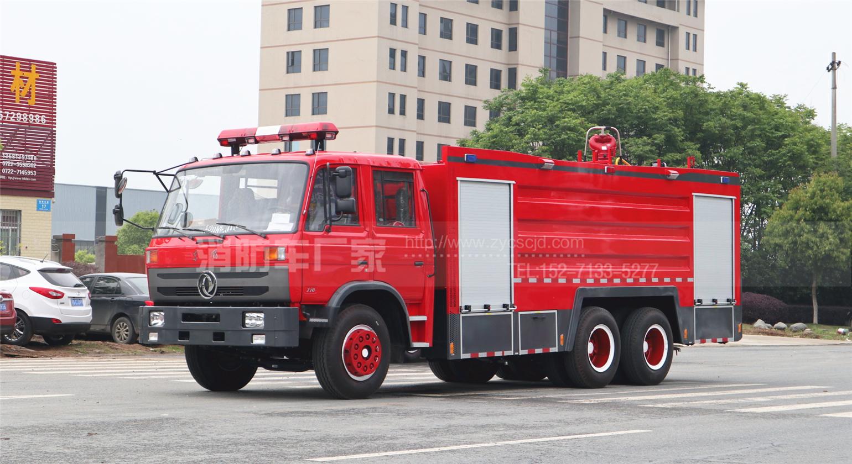 新疆奎屯消防车用户:定制东风12吨泡沫消防车