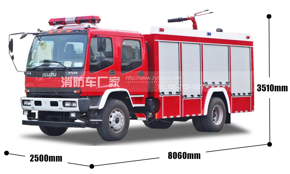 五十铃6吨泡沫消防车(40万起消防车)