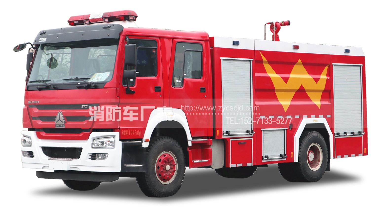 消防队专用重汽8吨水罐消防车
