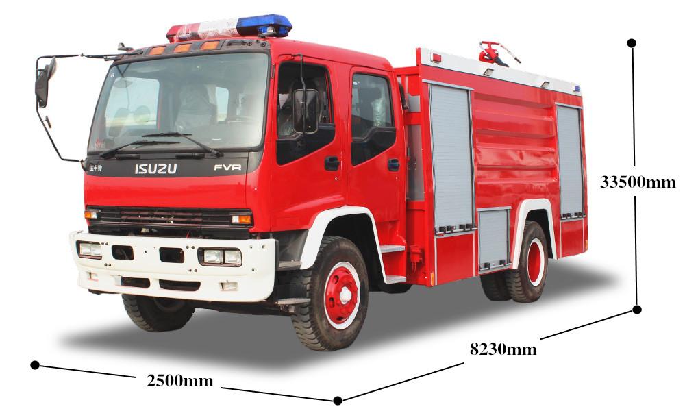 8吨五十铃FTR泡沫消防车