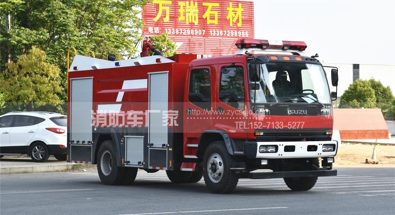 五十铃8吨水罐消防车参数、图片、价格及厂家咨询电话