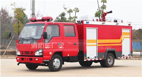 广东揭阳消防车用户:定购五十铃4吨水罐消防车