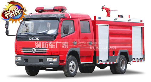 东风多利卡4吨水罐消防车