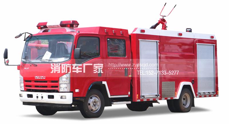 消防队专用五十铃3.5吨水罐消防车